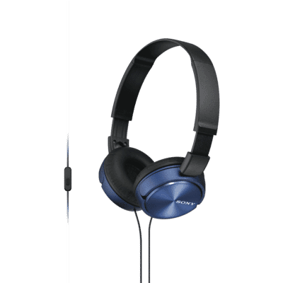 Sony - ZX310 Folding On Ear Headphones  - Blue