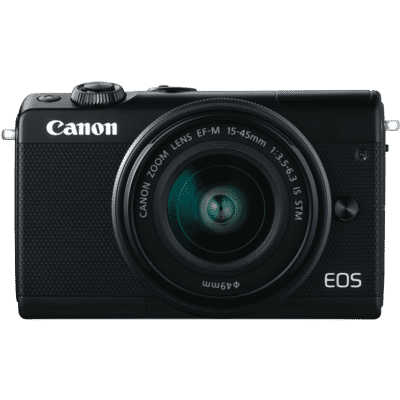 Canon - 24.2MP EOS M100 DSLR Camera Body with EFM 15-45mm f/3.5-6.3 IS STM Camera Lens - Black